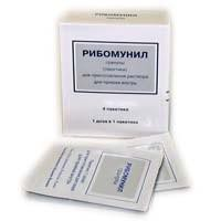 Рибомунил, гран. д/р-ра д/приема внутрь 750 мкг 500 мг №4