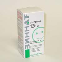 Зиннат, гран. д/сусп. д/приема внутрь 125 мг/5 мл 1.25 г №1